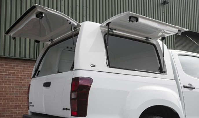 Truckman Utility 'Hi-Roof' Gullwing Canopy - Gel Coat White