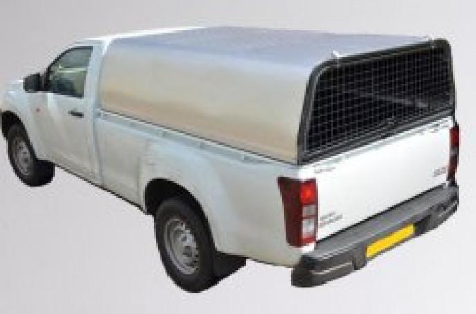 Single Cab - Mesh Rear Door Aluminium Canopy