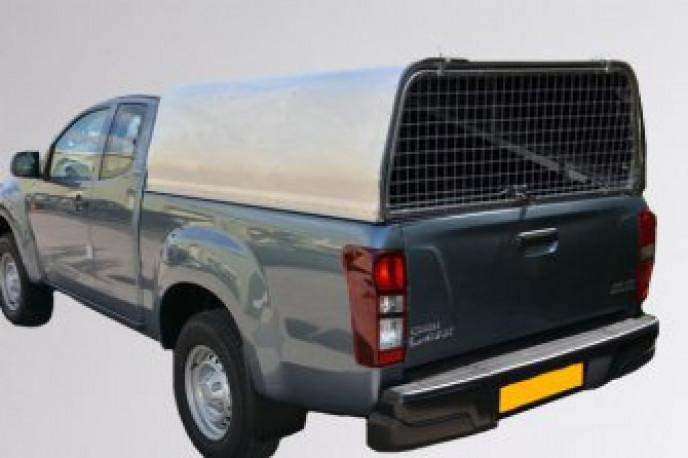 Extended Cab - Solid Rear Door Aluminium Canopy