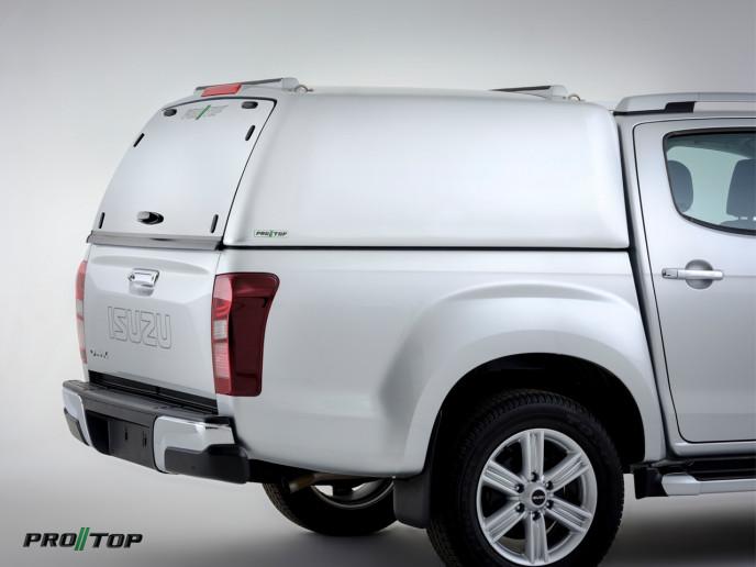 Pro//Top Tradesman Canopy Double Cab In 527 Splash White - Solid Rear Door