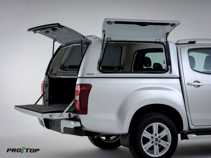 Pro//Top commercial canopy fitted to Isuzu D-Max