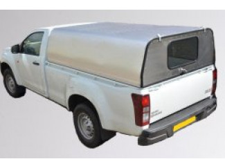 Single Cab - Solid Rear Door Aluminium Canopy