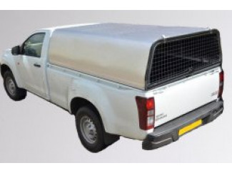 Single Cab - Mesh Rear Door Aluminium Canopy