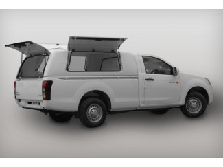 IACC3880-527 ProTop Gullwing Single Cab Solid Rear Door Canopy in Splash White