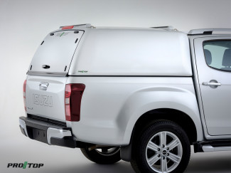 Pro//Top Tradesman Canopy Double Cab In 527 Splash White - Solid Rear Door