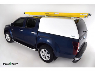 Pro//Top Tradesman Canopy Extended Cab In 527 Splash White - Glass Rear Door